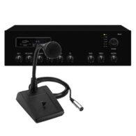 ELA-Kompaktanlage, Lautprecheranlage, Durchsageanlage, ELA-Anlage, Tisch-Mikrofon, Musikeinspielung, Musikuntermalung, Aufrufanlage