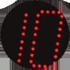 LED-Farbe rot, LED-Digitaluhren STYLE