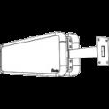 Wandarm für doppelseitige Uhr
