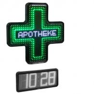 Apothekenkreuz, Uhr, einseitig