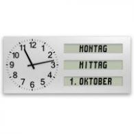 Wanduhr mit Tagesabschnitt und Datum, Seniorenuhren